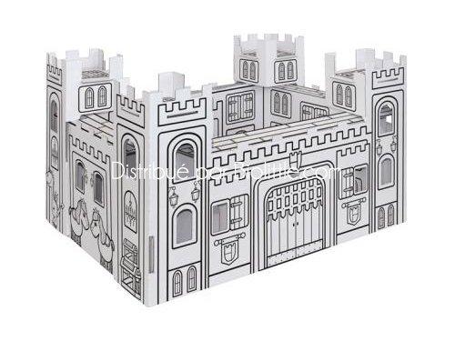 Construire et colorier villa carton une maison de for Maison en carton a colorier