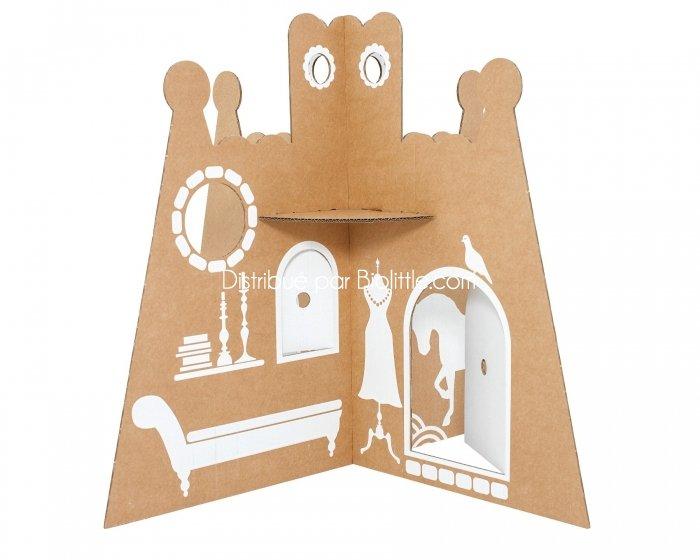 ch teau de pincesse en carton recycl flatout frankie. Black Bedroom Furniture Sets. Home Design Ideas