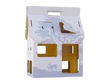 Maison carton miniature 'Mobile Home' jaune