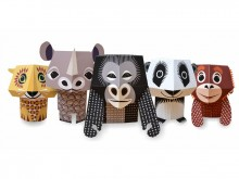 Forest Friends - jouets en papier