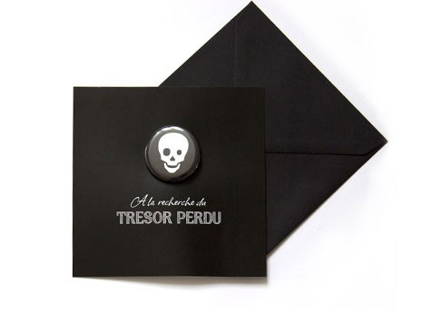 Carte d'invitation 'Pirate' - MonkeyChoo