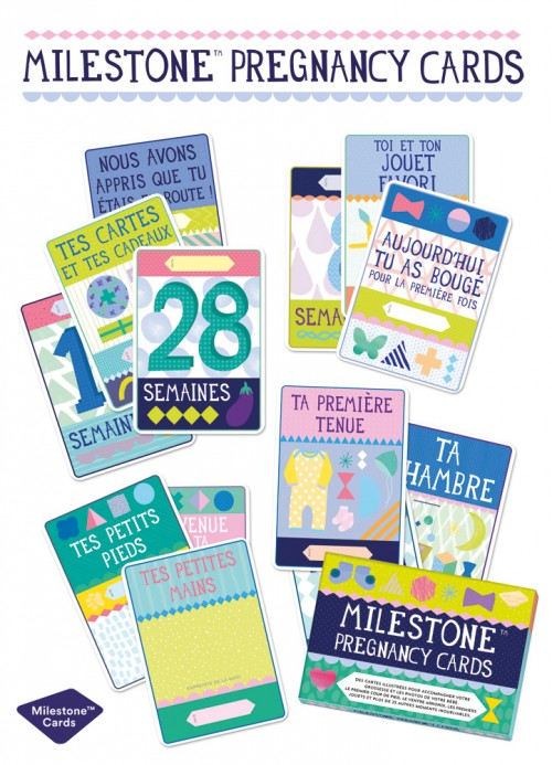 Set de 30 cartes illustrées - Milestone Baby Cards