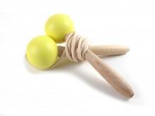 Corde à sauter en bois - jaune - Nobodinoz