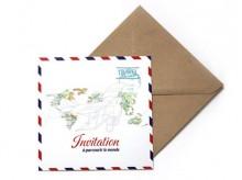 Carte d'invitation 'Avion' - MonkeyChoo