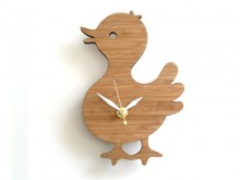 Horloge en bambou 'Baby Canard'