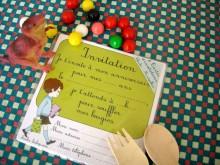 8 cartes d'invitation rétro | Garçon