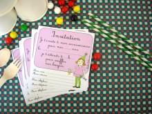 8 cartes d'invitation rétro | Filles