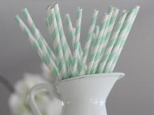 Pailles en papier tons verts