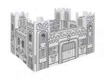 Château en carton à construire et à colorier - Villa Carton