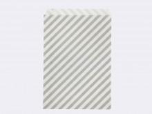 Emballage de cadeaux : Sac en papier rayé gris - Ferm Living