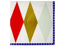 Serviettes en papier décorées 'Harlequin'