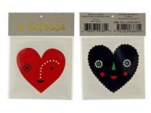 Tatouages temporaires 'Hearts'