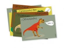 """8 Cartes d'invitation """"Dinosaures"""" - Pirouette Cacahouète"""