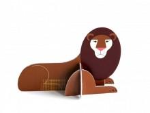 Carte popup en carton - Lion - Kidsonroof