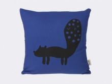 Coussin Renard bleu en coton biologique - Ferm Living