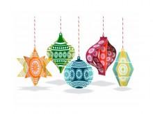 Décorations de Noël - jouets en papier recyclé
