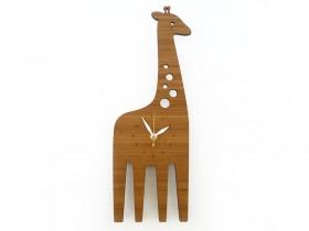 Horloge en bambou 'Modern' Girafe