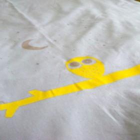 sérigraphie housse 'orage et jaune'