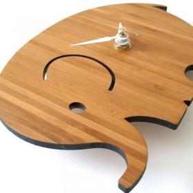 Horloge en bambou 'Baby Elephant'