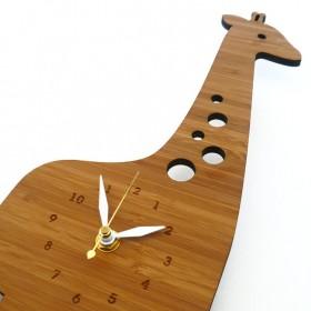 Horloge en bambou 'Modern Giraffe'