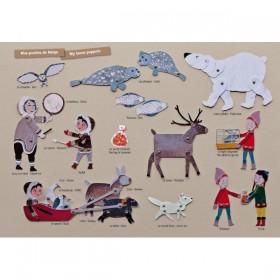 Loisirs créatifs carton - Pantins de neige - Mitik
