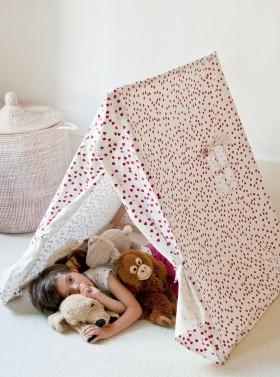 La tente fushia : en coton bio et bois du jura - Deuz